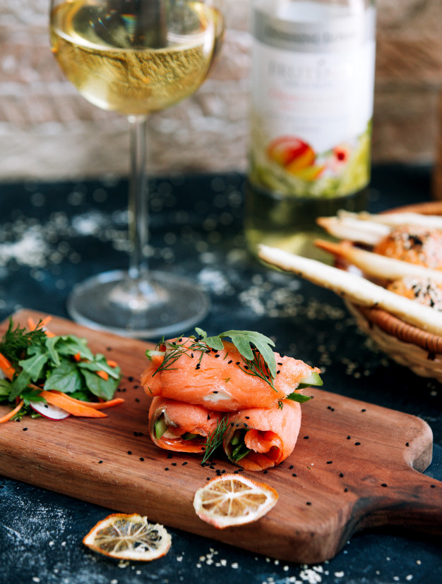 Vin avec le saumon